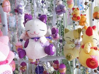 クリスタル&ヒーリングツールショップ タクレット まねき猫吊るし飾り 瑠璃寺猫神様